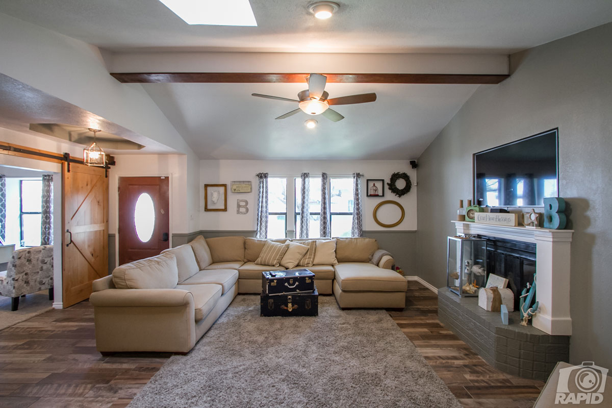 The living room inside of the home wanted to be and STR at 2045 American Legion Road. (Contributed/Jody Babiash)