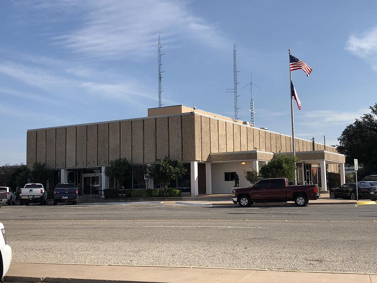 The San Angelo Police Station on Nov. 6, 2017. (LIVE! Photo/John Basquez)