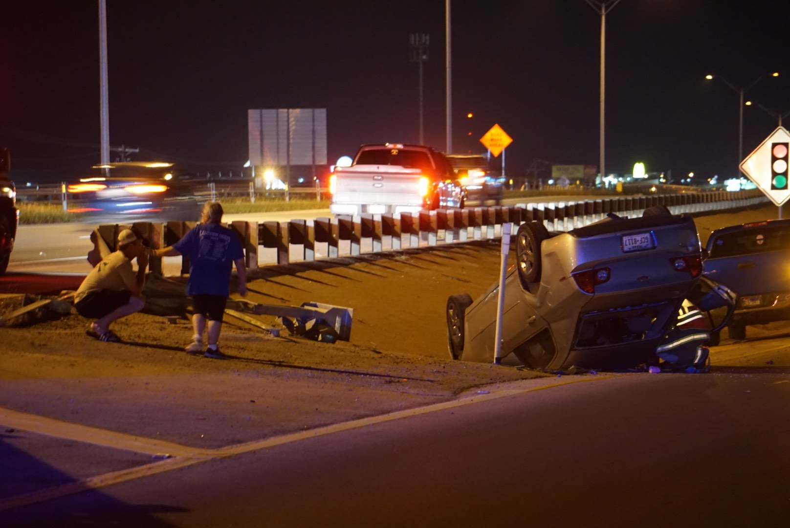 Rollover Crash on Loop 306 (LIVE! Photo/Cameron Niblock)