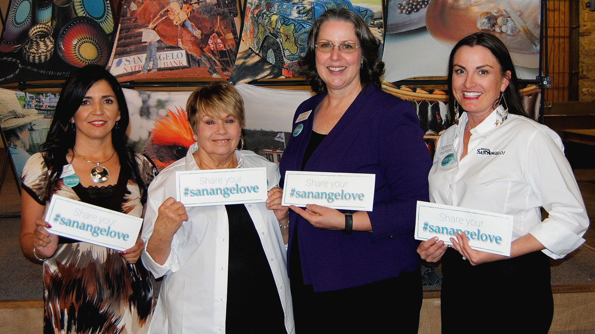 The CVB staff, Suzanna Aquirre, Dian Bayes, and far right, Amy Roberts.