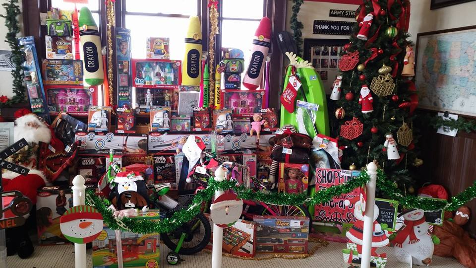 Some of Santa's gifts given 2015 (photo courtesy RMSA)