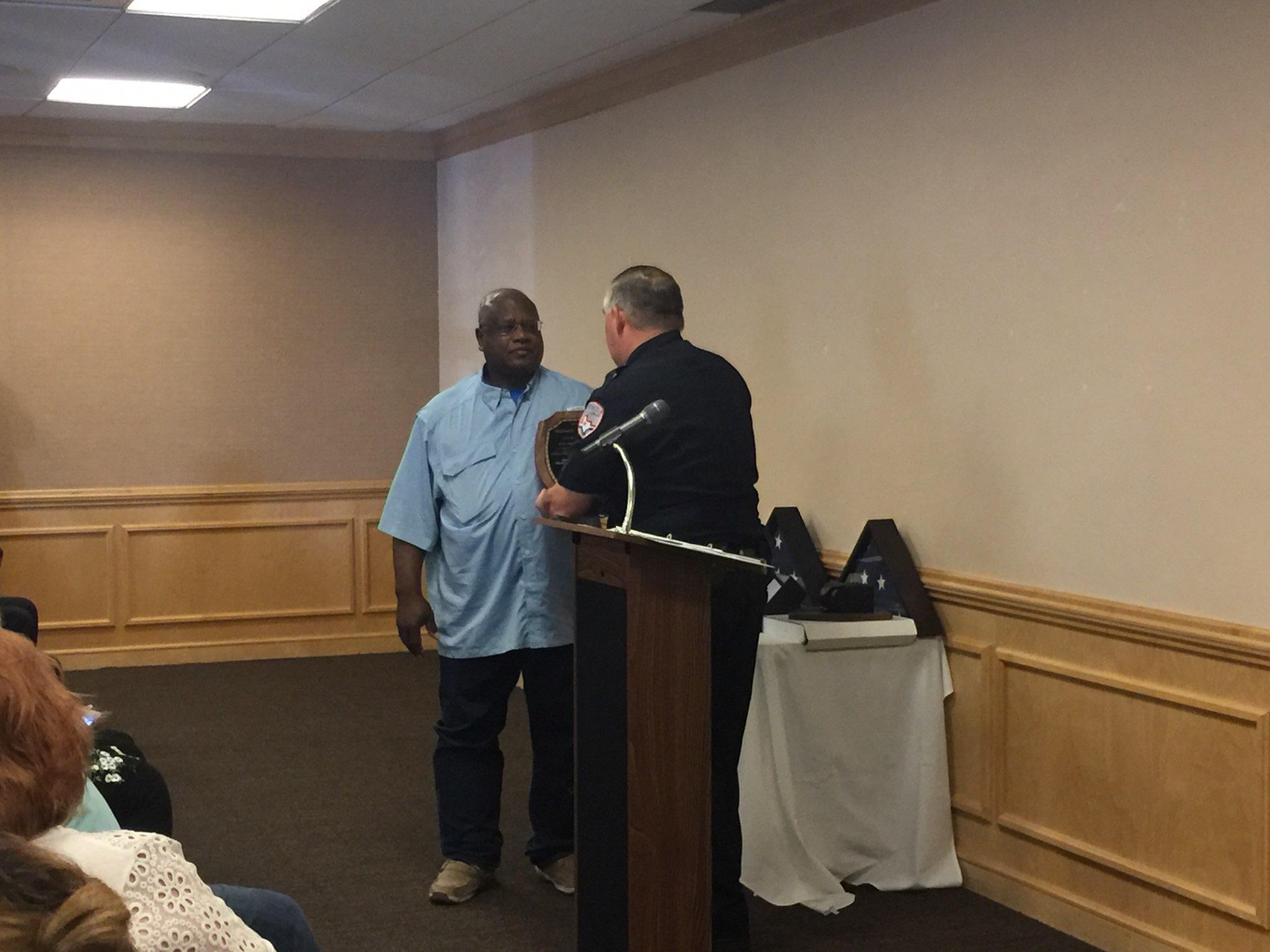 SAPD Officer Michael Peterson Retires. (LIVE! Photo/Yantis Green)