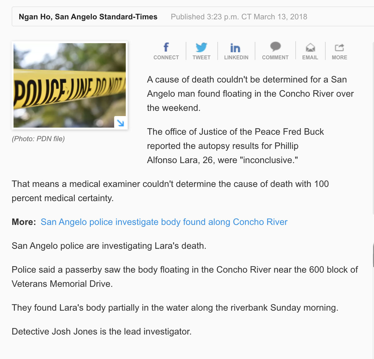 The inaccurate Gannett San Angelo Standard-Times article.