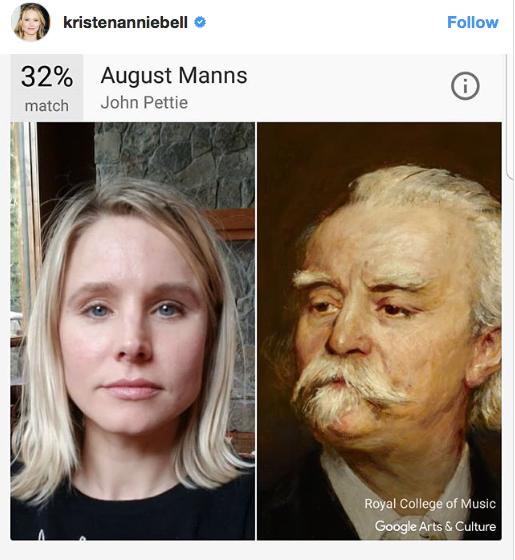 Kirsten Bell face comparison