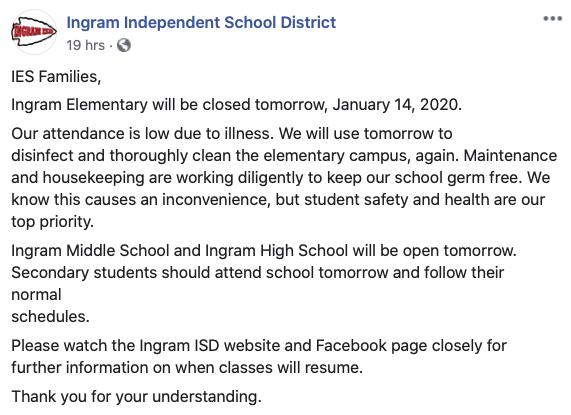 Release From Ingram ISD