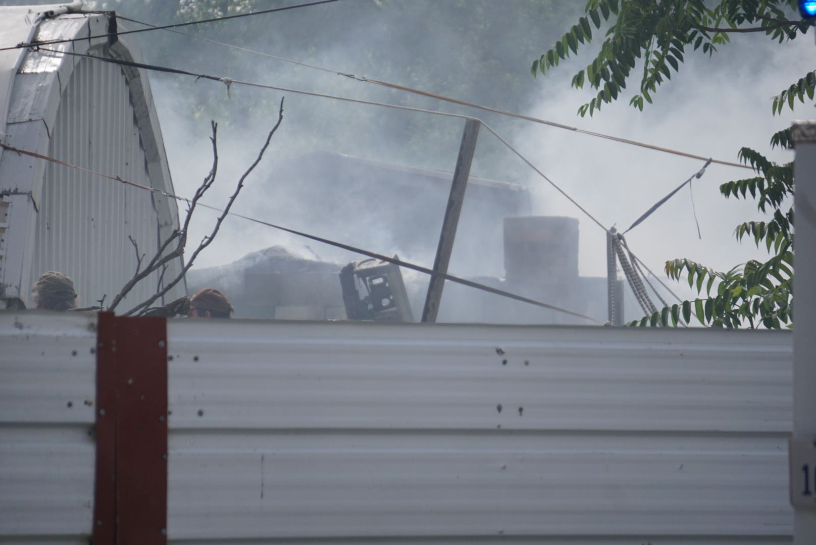 Shed fire on Spaulding Street (LIVE! Photo/Cuatro Jones)