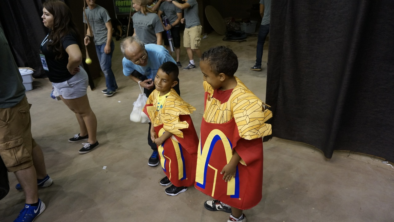 Getting ready for the McDonald's Small Fry Race. (LIVE! Photo/Joe Hyde)