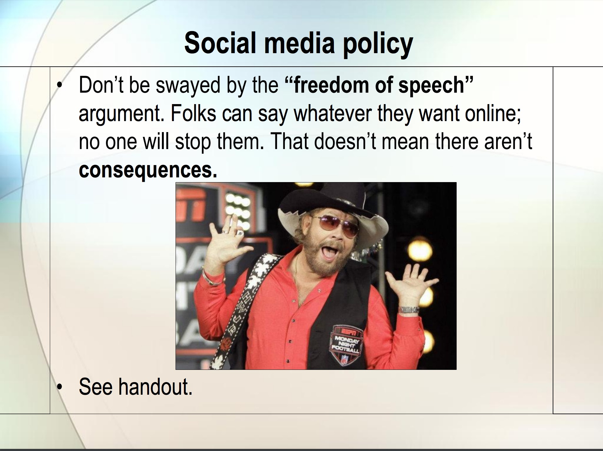 City Social Media Policy Power Point (Provided by City of San Angelo)