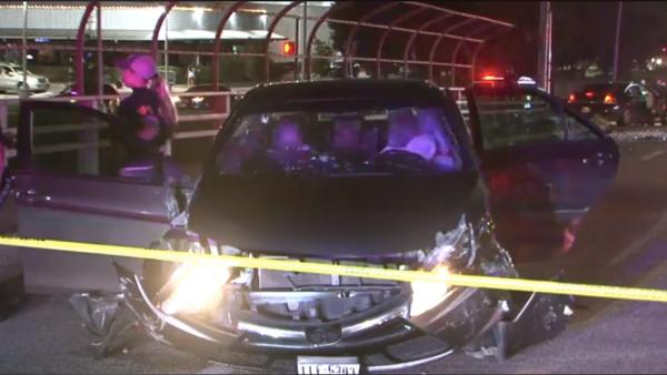 Family Injured After Shooting Suspects Crash Into Their Vehicle