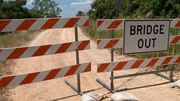 Who Keeps Moving the Construction Signs at the Oak Creek Bridge?