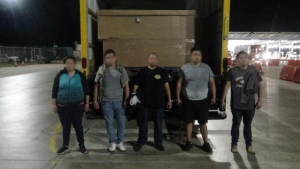 Human Smuggling Attempt in a Box Truck Stopped