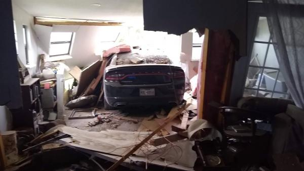 Dodge Charger Plows Completely Through San Angelo Home
