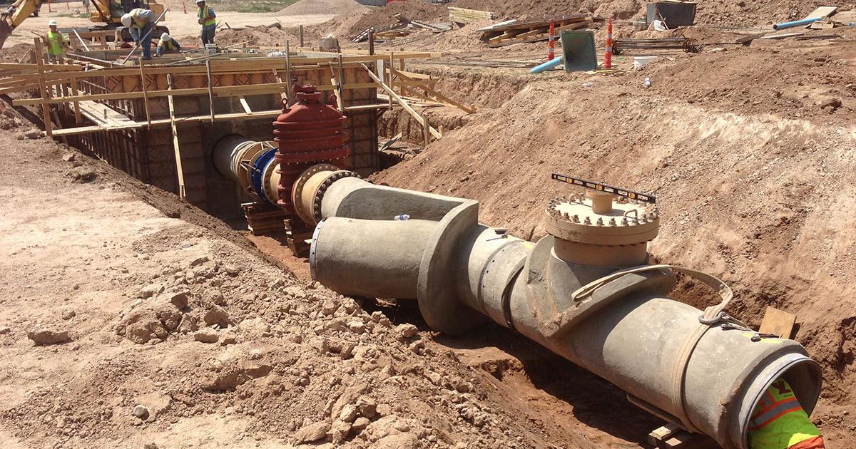 The Hickory pipeline under construction. (Contributed/City of San Angelo)