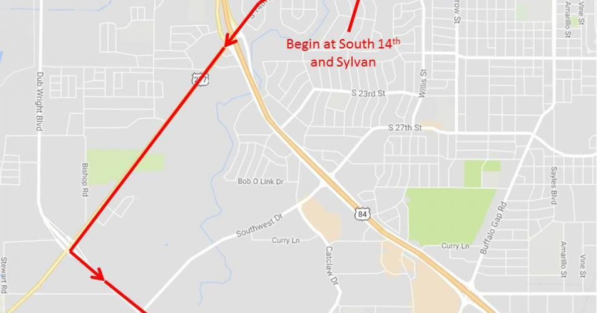 Route to the funeral service (Photo courtesy of Abilene Police Department)