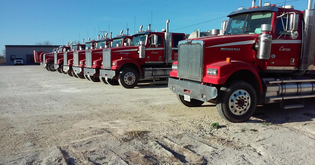 A fleet of Caron Trucks, now based in San Angelo, Texas. (LIVE! Photo/Yantis Green)