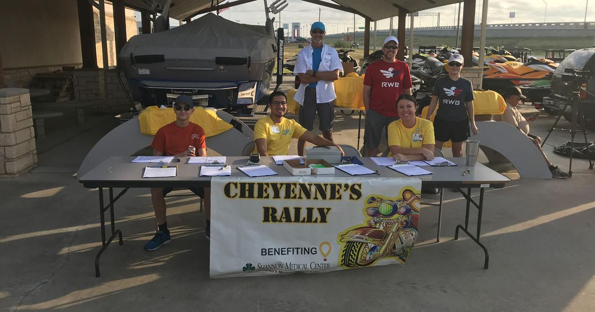 Volunteers for the Children's Miracle Network organize Cheyenne's Rally. Many of the volunteers are employees at Shannon Medical Center. (LIVE! Photo/Joe Hyde)