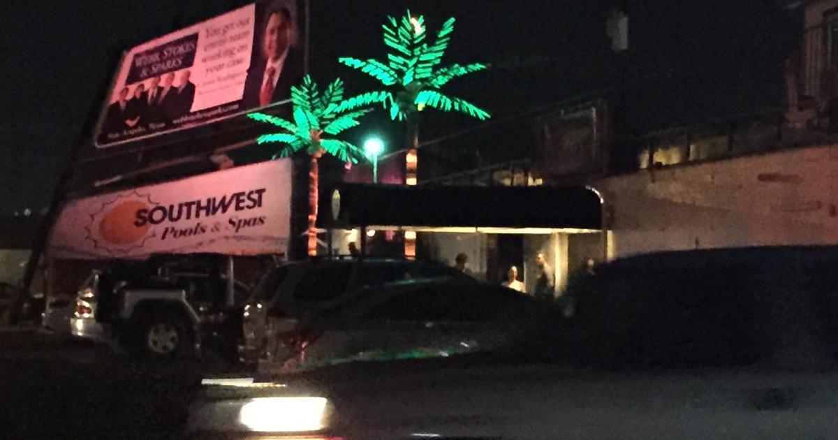 The billboard next to San Angelo's strip club. (LIVE! Photo/John Basquez)