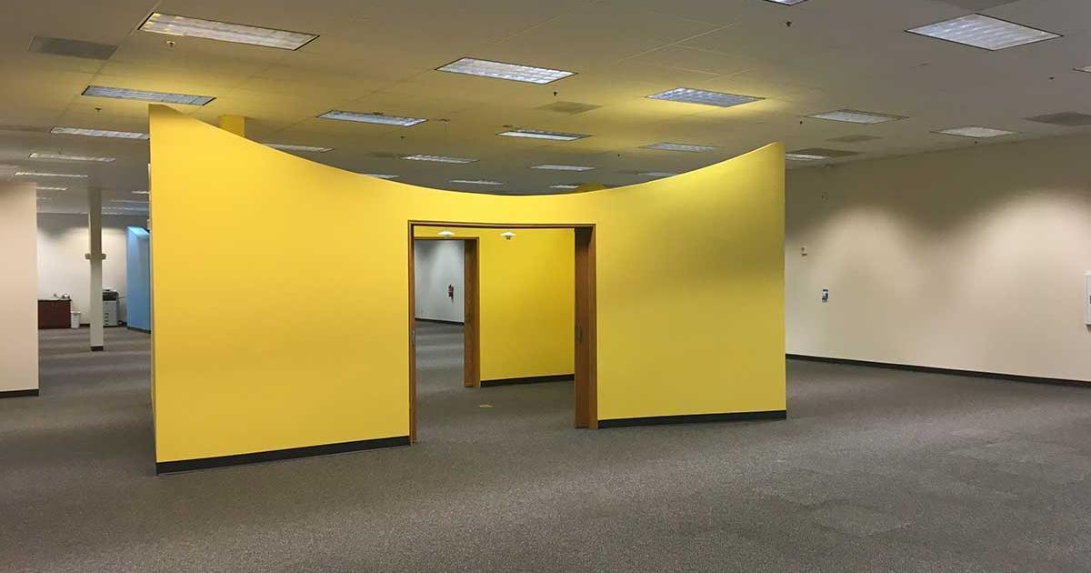 Work spaces at DMI. (LIVE! Photo/Joe Hyde)