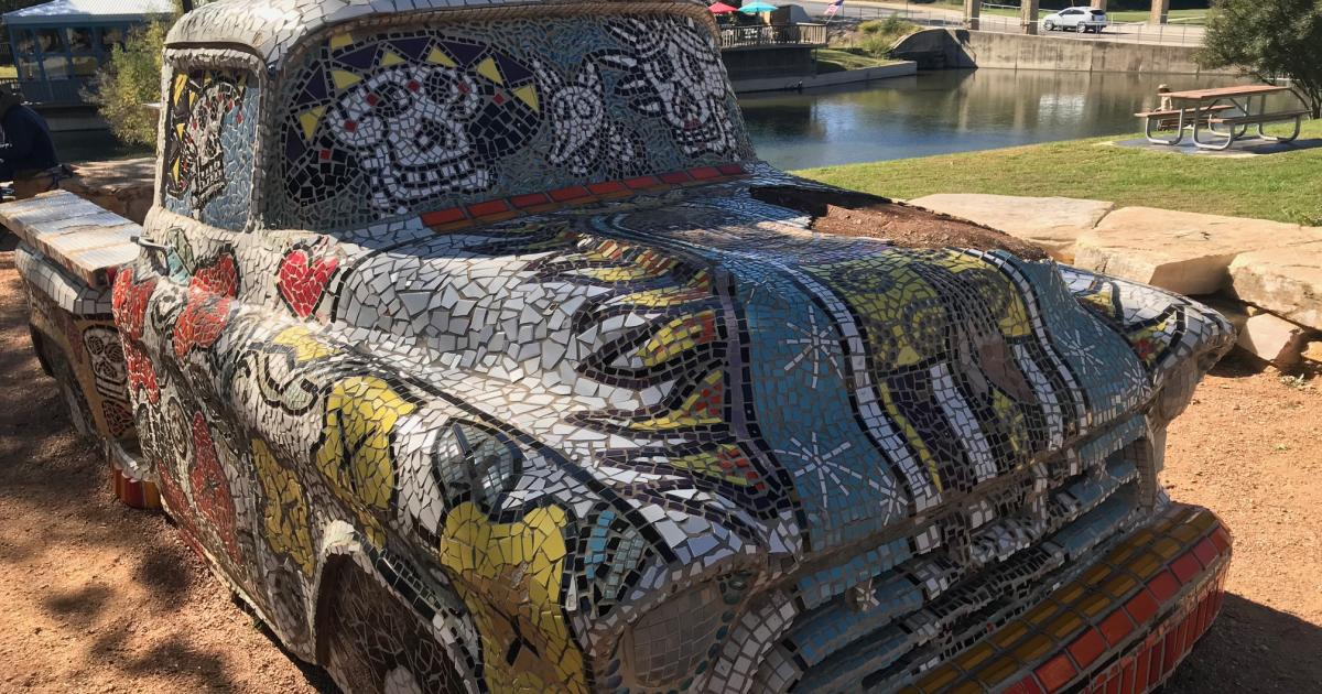 Vintage Truck Art Installation by Art in Uncommon Places, photo San Angelo Live! Brandy Petty