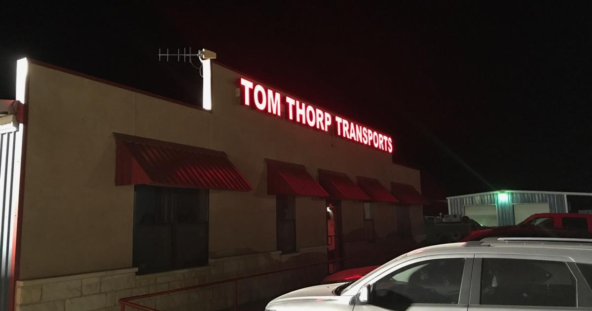 The headquarters on Tom Thorp Transports. (LIVE! Photo/Joe Hyde)