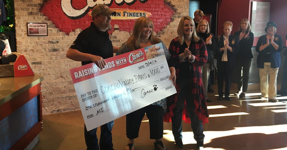 Moring gives donation to Conch Valley PAWS
