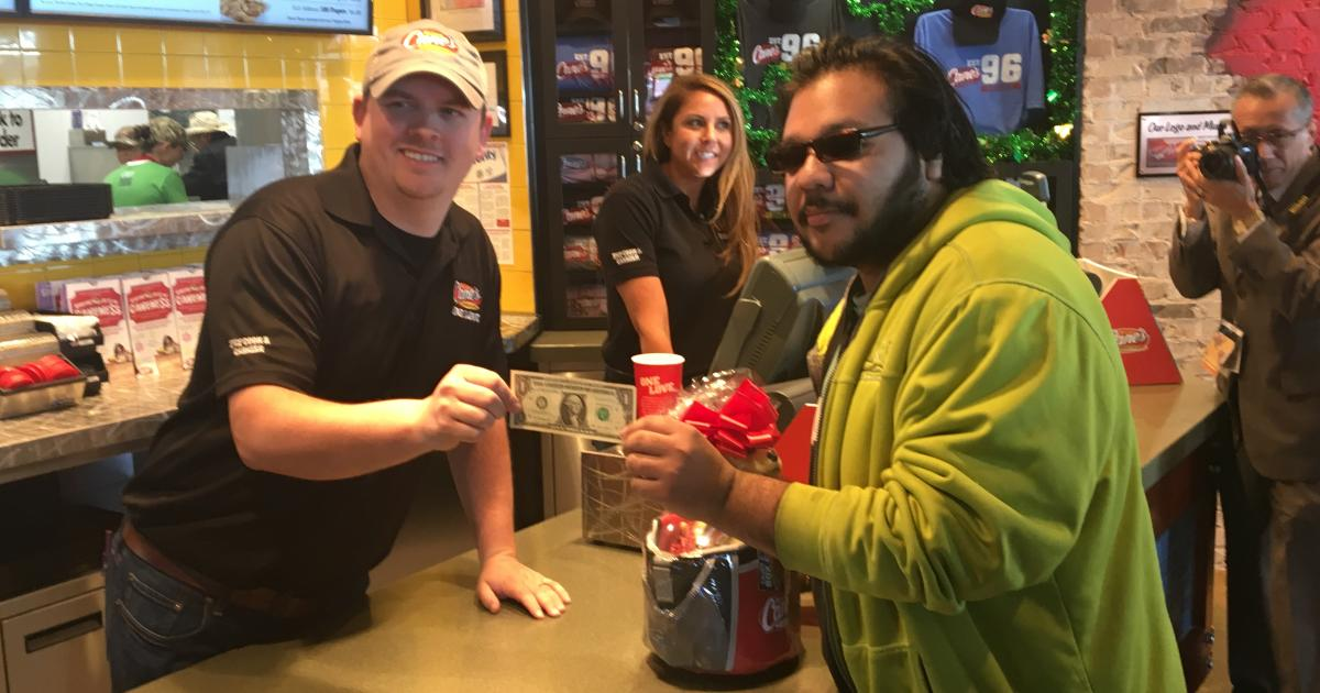 Trace Moring with their first customer Angel Rodriguez
