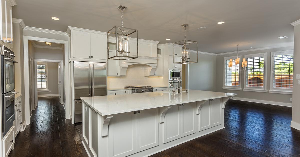A stylish modern kitchen in a von Rosenberg home. (McLaughlin Advertising)