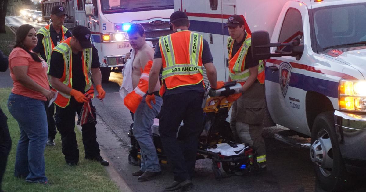 Motorcycle Crashes to Avoid Tahoe on Ave. N on July 31, 2015 (LIVE! Photo/John Basquez)