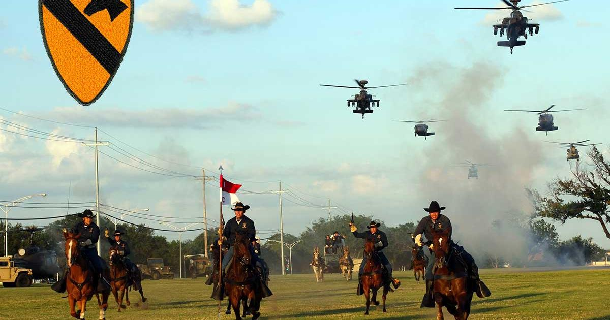 DeLeon was a member of the 1st Cavalry Division who brand themselves as America's First Team (Fort Hood photo)