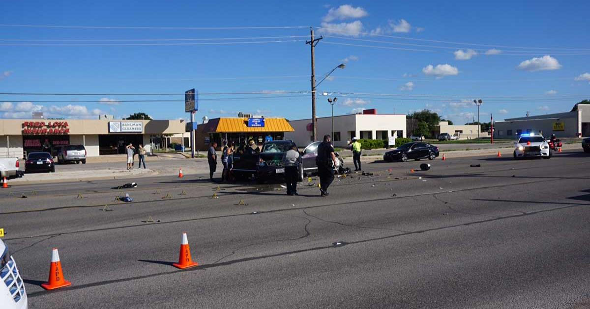 A motorcycle police officer was killed on Knickerbocker Road on June 25, 2015. (LIVE! Photo/John Basquez)