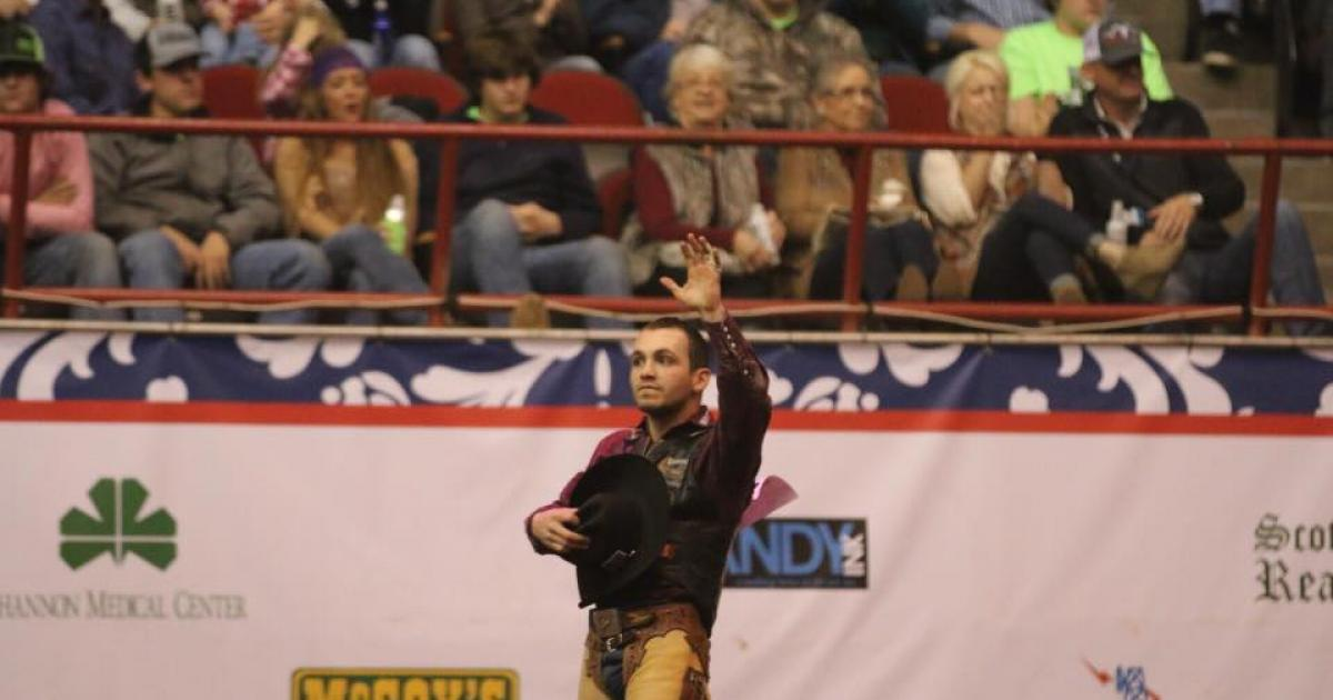 Joe Lufkin, 83 points on Pete Carr Pro Rodeo's Miss Congeniality. (LIVE! Photo/Rodney Fleming)