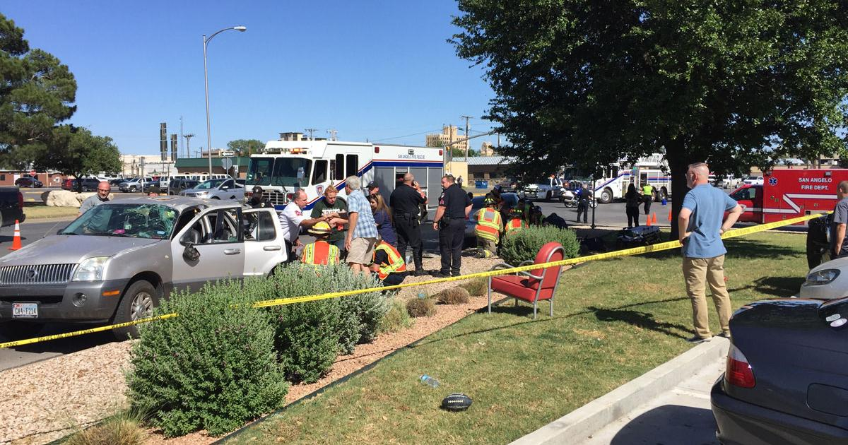 EMTs Perform CPR on Badly-Injured Pedestrian After He Was Struck in Horrific Rollover Crash. (LIVE! Photo/Yantis Green)