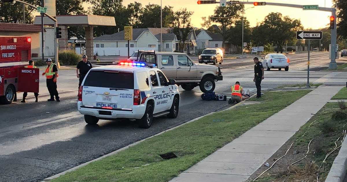 Pedestrian hit by Ford pickup on Oct. 20, 2017. (LIVE! Photo/John Basquez)
