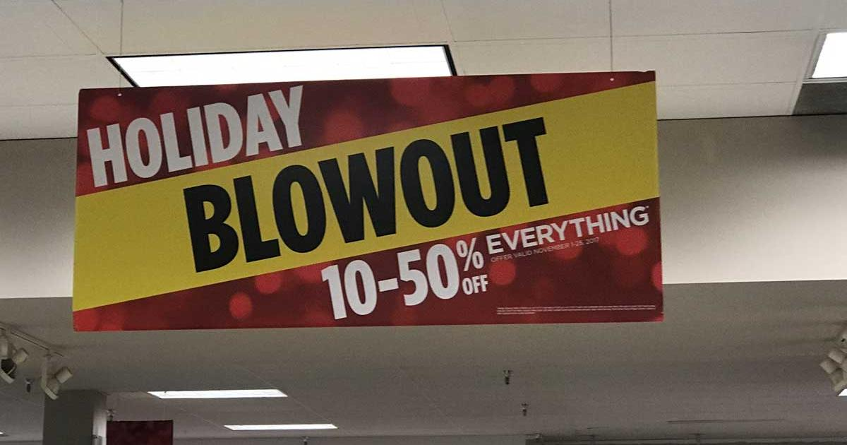 Sears in San Angelo is already promoting 10-50 percent off everything. (LIVE! Photo/Joe Hyde)