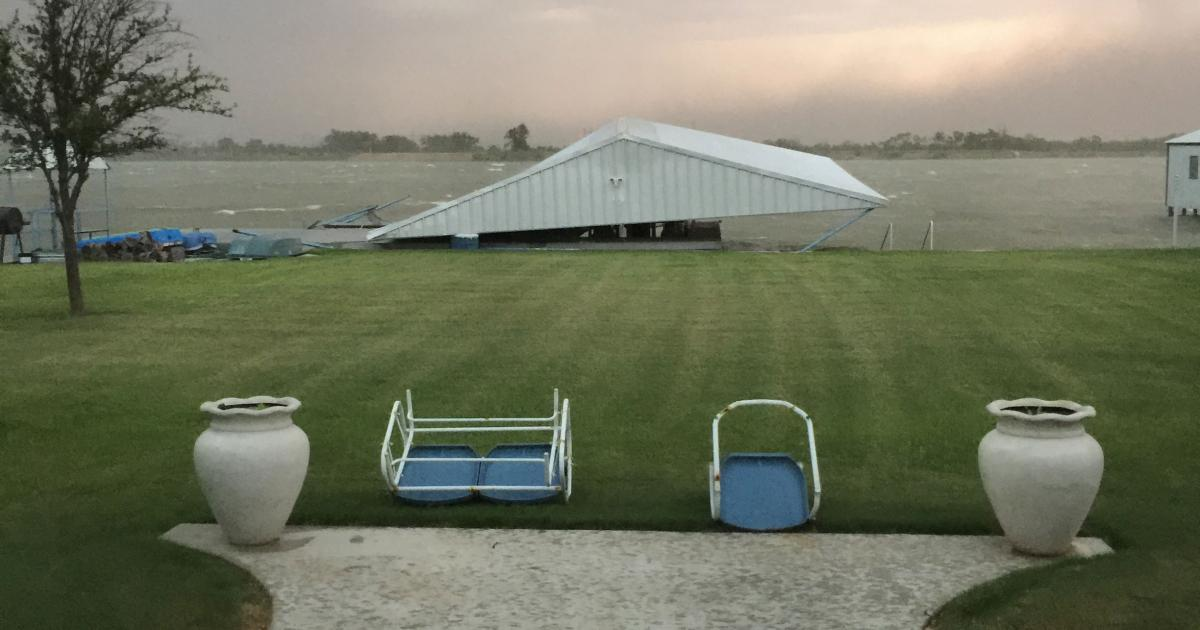 Trinidad Aguirre's boat house after the storm passed through. (Contributed/Trinidad Aguirre)