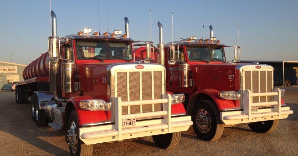 Water trucks operated by Tom Thorp Transports today. (Tom Thorp Transports on Facebook)