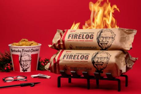 KFC fried chicken-scented 11 Herbs & Spices Firelog