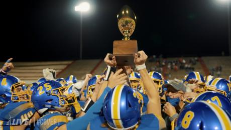 The Brock Eagles claimed a Class 3A Division I Area title on Thursday night following a dominating 69-34 win over Denver City.