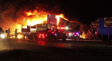 Fiery Crash in Stanton