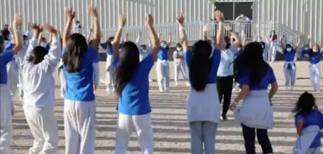 Kids at the US Border Processing Facility