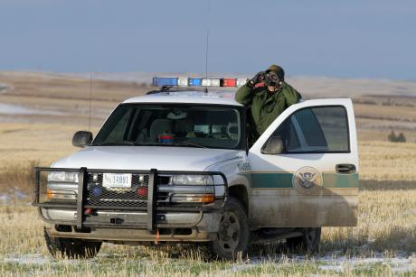 border patrol agent working the border.  (Contributed/CBP)