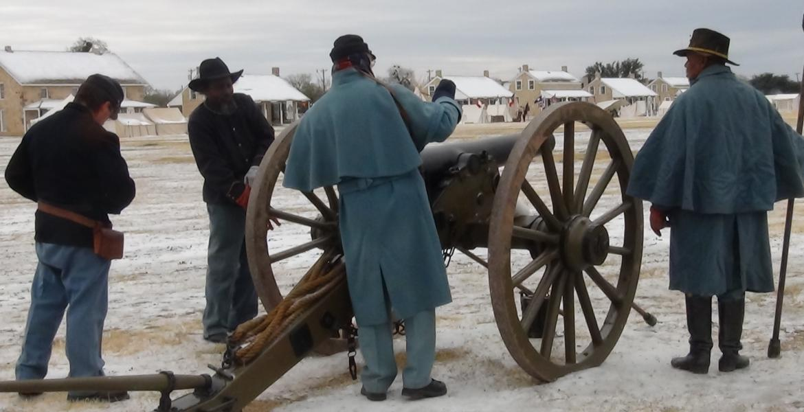 The Artillery gears up to shoot their gun (LIVE! photo by Cheyenne Benson)