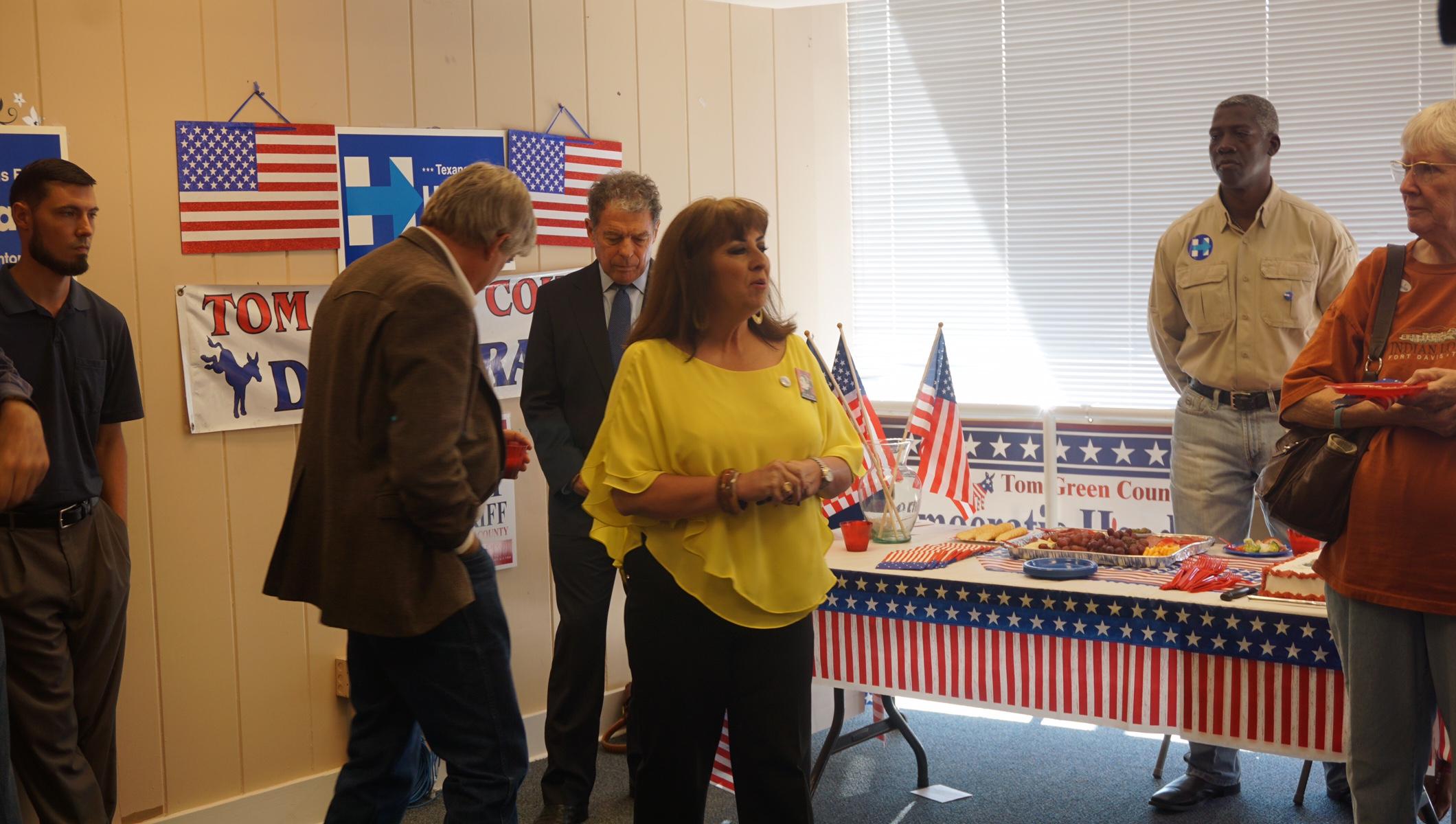 Tom Green County Democratic Club Press Conference (LIVE! Photo/John Basquez)