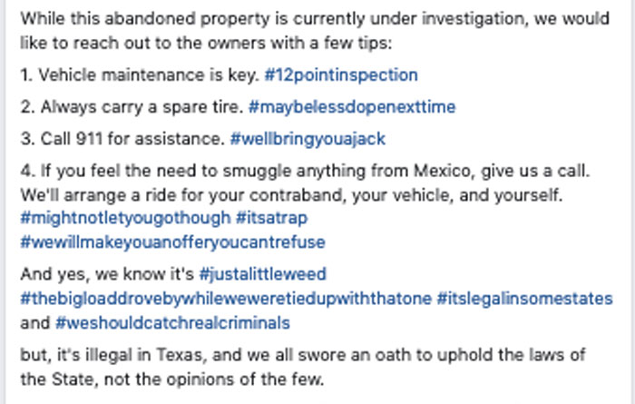 Tips from the BCSO