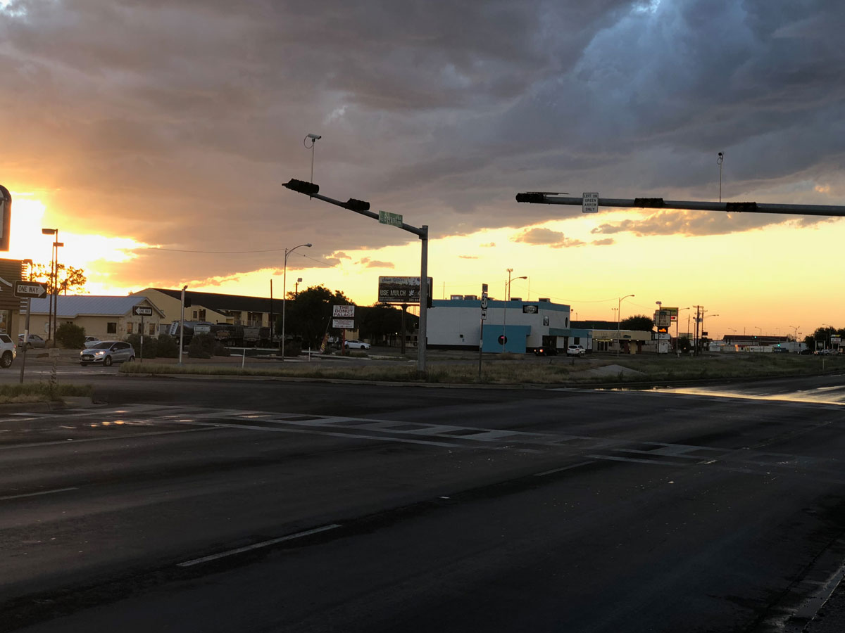 Traffic signals out at N Bryant and 19th on May 15, 2018. (LIVE! Photo/Sam Fowler)