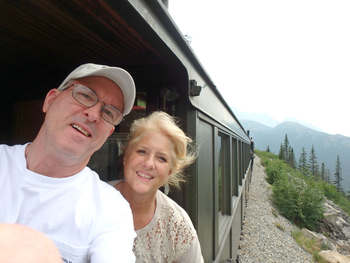 The White Pass & Yukon Railroad, narrow gauge. And it's still there.