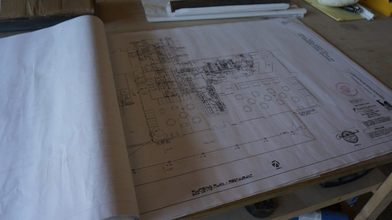 Architectural drawings of the Twisted Root San Angelo by Henry Schmidt, AIA. (LIVE! Photo/Joe Hyde)