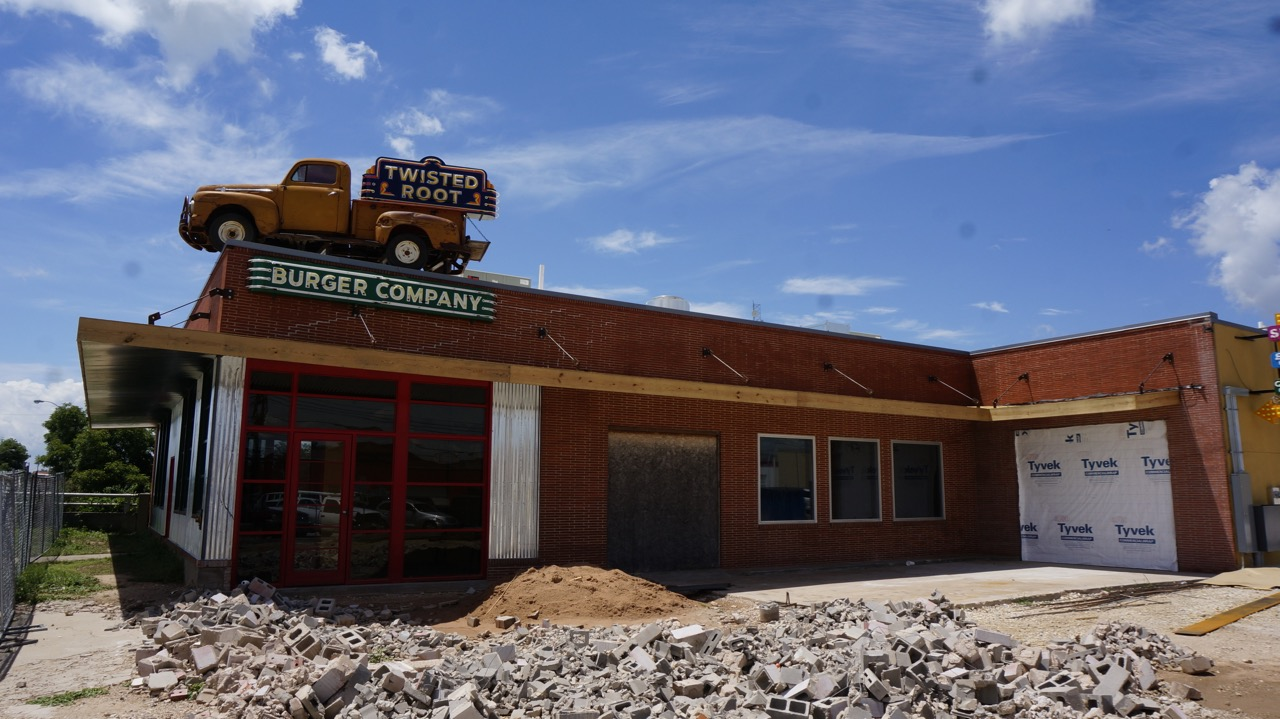 The exterior of the Twisted Root Restaurant in San Angelo 30-40 days before its soft opening. (LIVE! Photo/Joe Hyde)