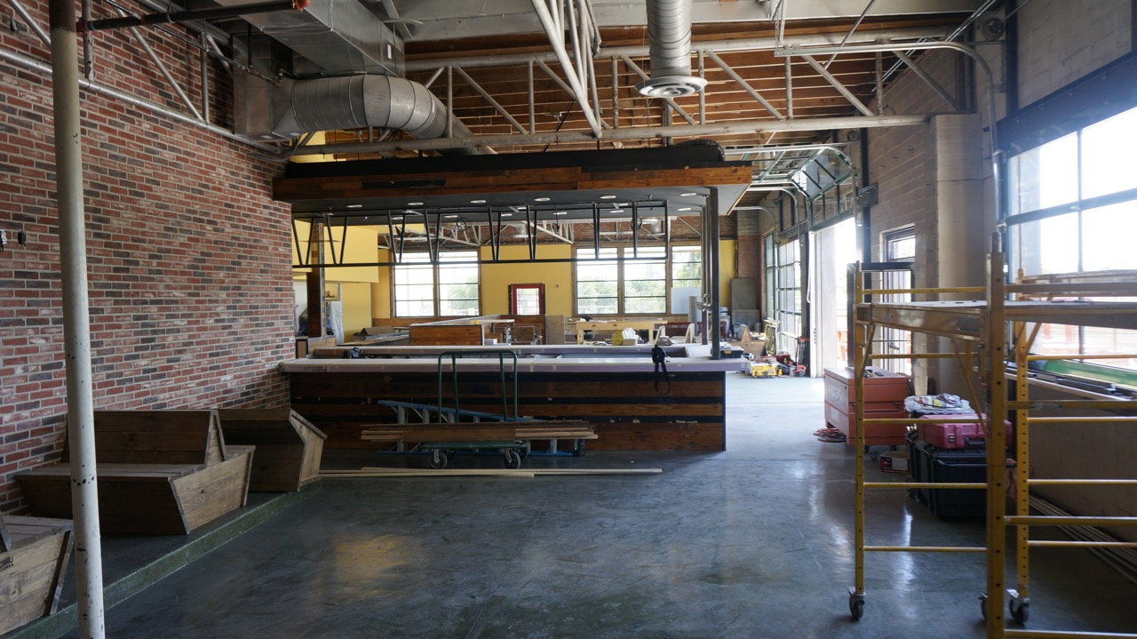 The interior of the Twisted Root, 30-40 days before opening. (LIVE! Photo/Joe Hyde)