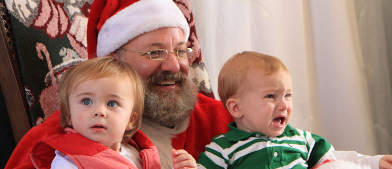 Santa Clause Visits Christmas at Old Ft. Concho.  COSA Photo.